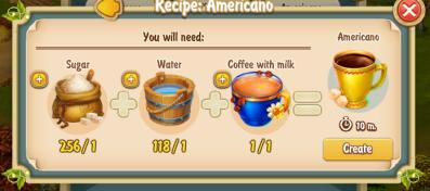Golden Frontier Americano Recipe