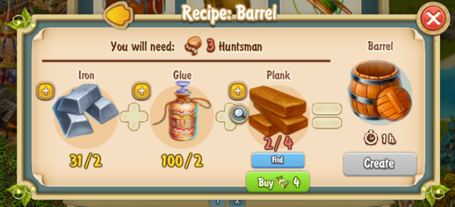 Golden Frontier Barrel Recipe