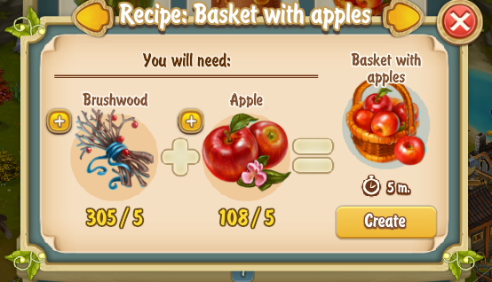 Golden Frontier Basket With Apples Recipe