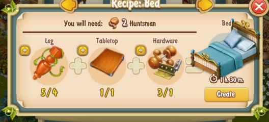 Golden Frontier Bed Recipe