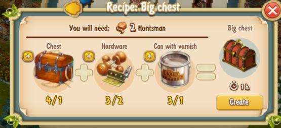 Golden Frontier Big Chest Recipe