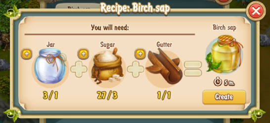 Golden Frontier Birch Sap Recipe