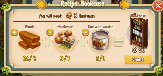 Golden Frontier Book Case Recipe