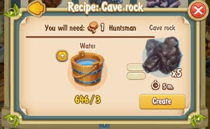 Golden Frontier Cave Rock Recipe