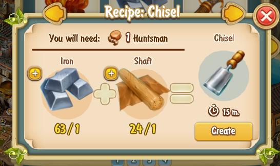 Golden Frontier Chisel Recipe