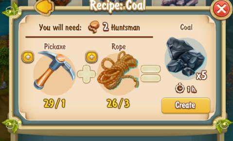 Golden Frontier Coal Recipe
