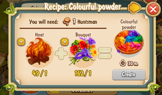 Golden Frontier Colourful Powder Recipe