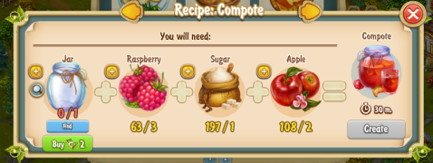Golden Frontier Compote Recipe