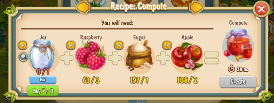 Golden Frontier Compote Recipe