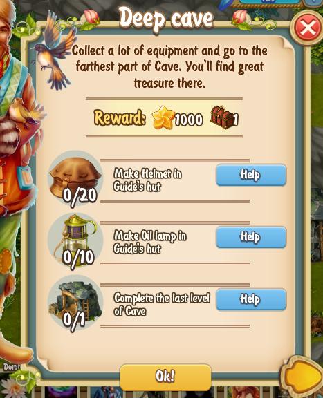 Golden Frontier Deep Cave Quest