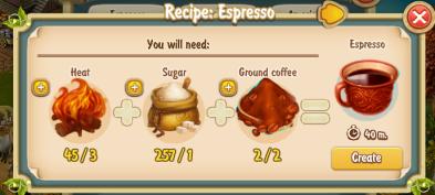 Golden Frontier  Expresso Recipe