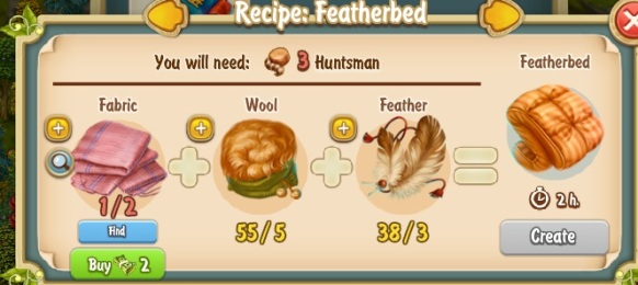 Golden Frontier Featherbed Recipe