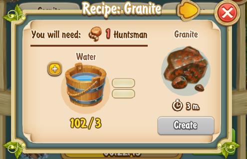 Golden Frontier Granite Recipe