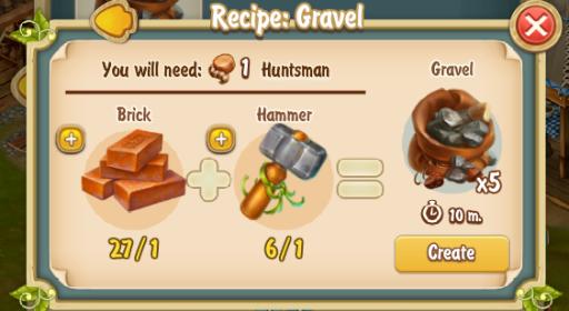 Golden Frontier Gravel Recipe