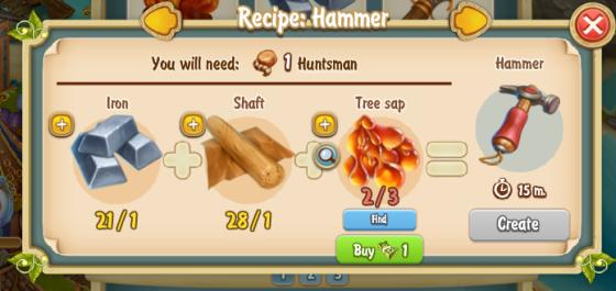 Golden Frontier Hammer Recipe
