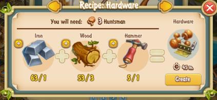 Golden Frontier Hardware Recipe