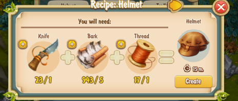 Golden Frontier Helmet Recipe