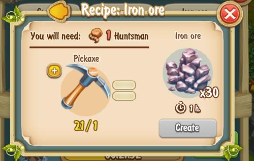 Golden Frontier Iron Ore Recipe