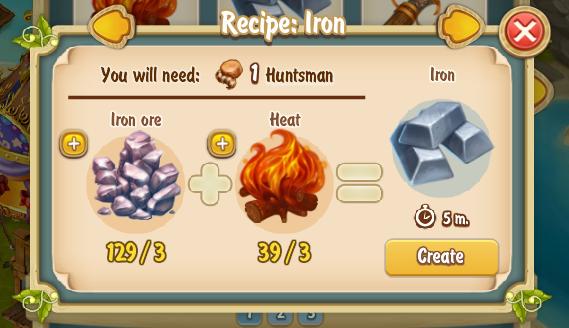 Golden Frontier Iron Recipe