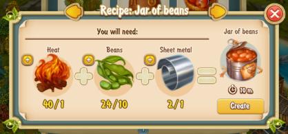 Golden Frontier Jar of Beans Recipe