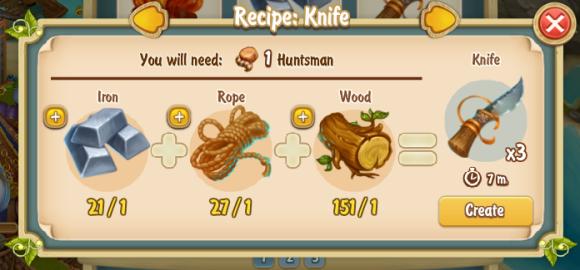 Golden Frontier Knife Recipe