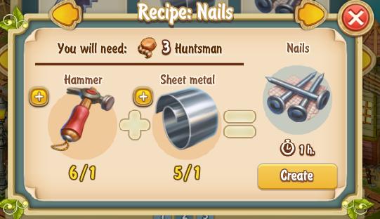 Golden Frontier Nails Recipe