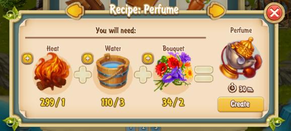 Golden Frontier Perfume Recipe