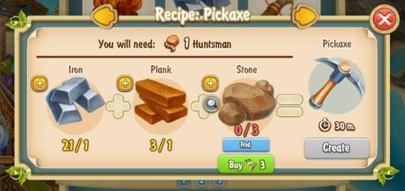 Golden Frontier Pickaxe Recipe