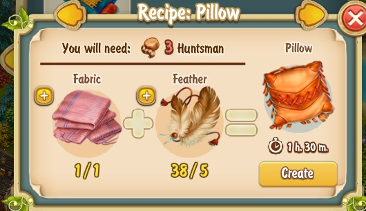 Golden Frontier Pillow Recipe