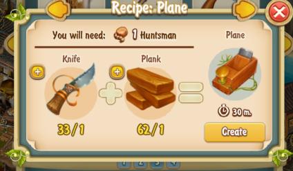 Golden Frontier Plane Recipe