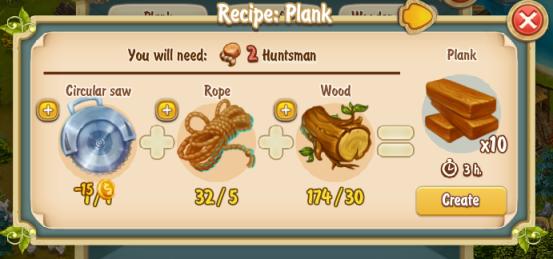 Golden Frontier Plank Recipe