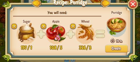 Golden Frontier Porridge Recipe