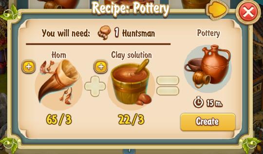 Golden Frontier Pottery Recipe