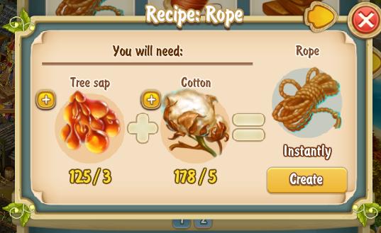 Golden Frontier Rope Recipe
