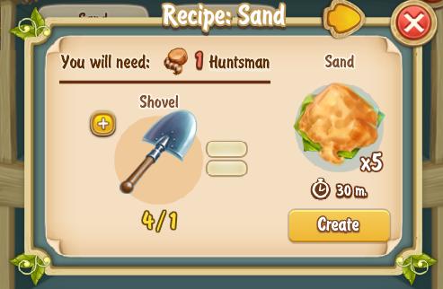 Golden Frontier Sand Recipe