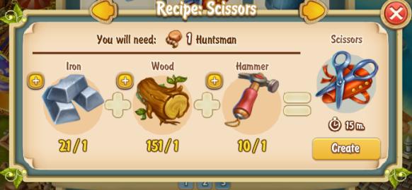 Golden Frontier Scissors Recipe