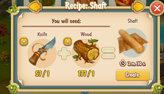 Golden Frontier Shaft Recipe
