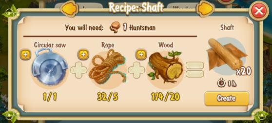Golden Frontier Shaft Recipe