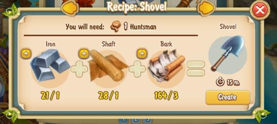 Golden Frontier Shovel Recipe
