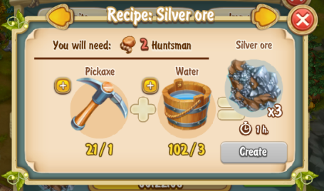 Golden Frontier Silver Ore Recipe