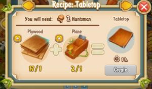Golden Frontier Tabletop Recipe