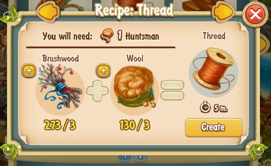Golden Frontier Thread Recipe