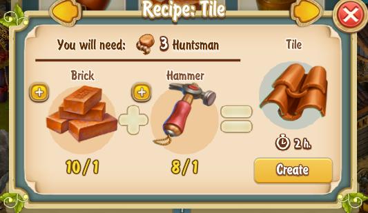 Golden Frontier Tile Recipe