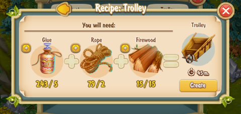 Golden Frontier Trolley Recipe