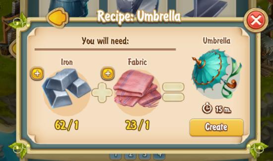 Golden Frontier Umbrella Recipe