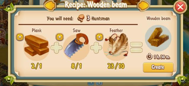 Golden Frontier Wooden Beam Recipe