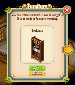 Replace Clyde's Bookcase