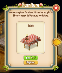 Replace Clyde's Table