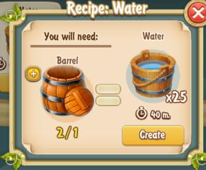 Golden Frontier Water Recipe