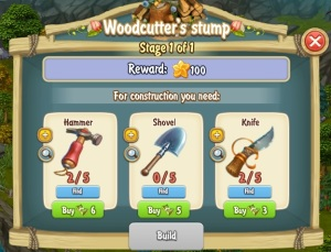 Golden Frontier Woodcutter's Stump Stage 1